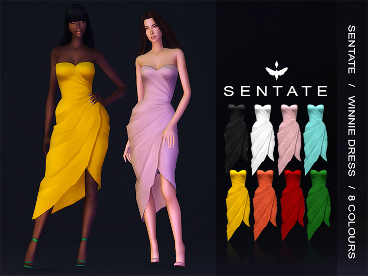 Winnie Dress for Sims 4