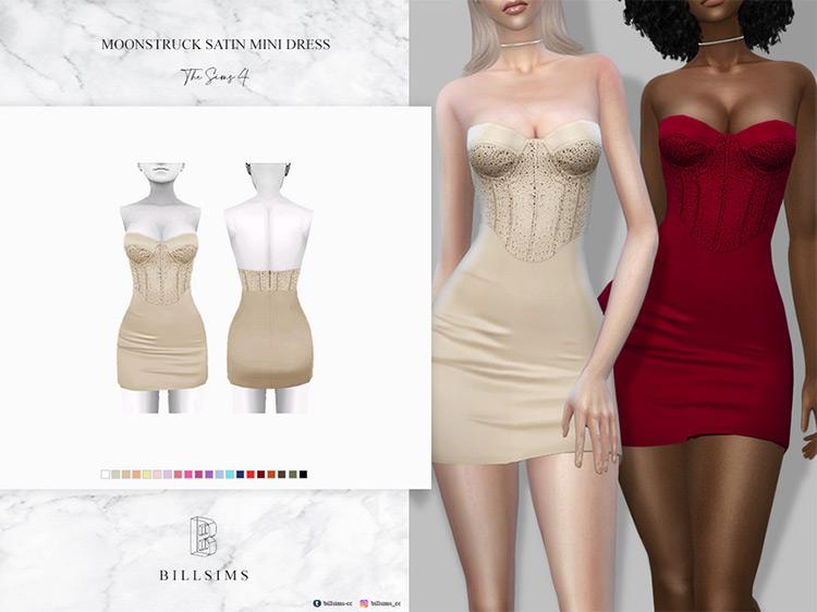 Moonstruck Satin Mini Dress TS4 CC