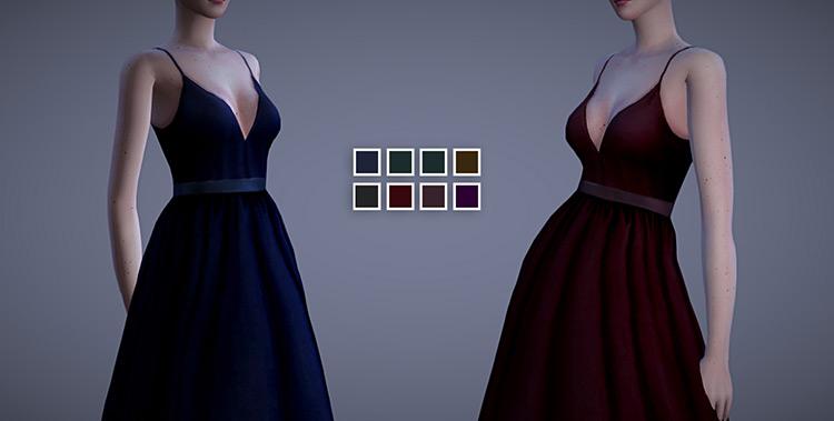 Valentina Dress Sims 4 CC screenshot