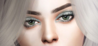 Glitter eyeshadow from The Sims 4