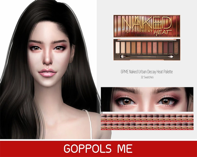 Naked Urban Decay Heat Palette Sims 4 CC