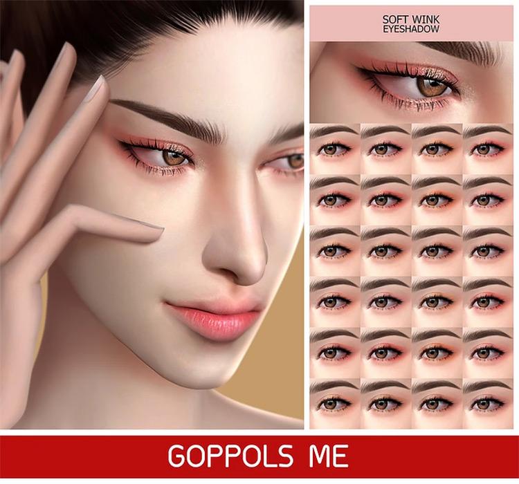 Soft Wink Eyeshadow Sims 4 CC
