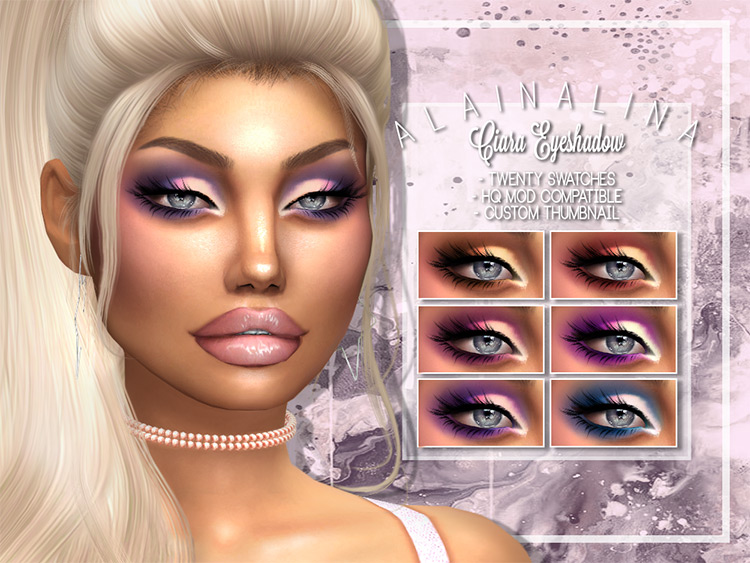 Ciara Eyeshadow Sims 4 CC screenshot