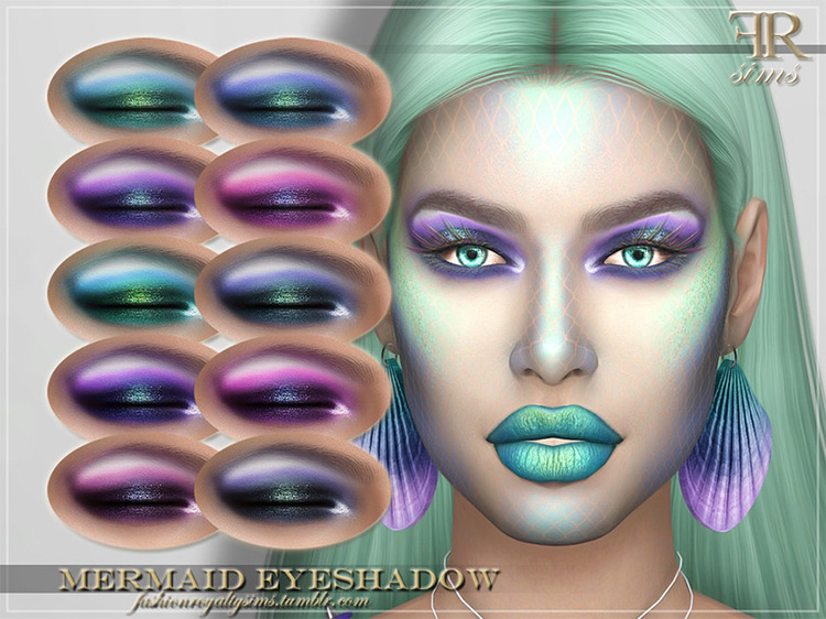 Mermaid Eyeshadow Sims 4 CC screenshot