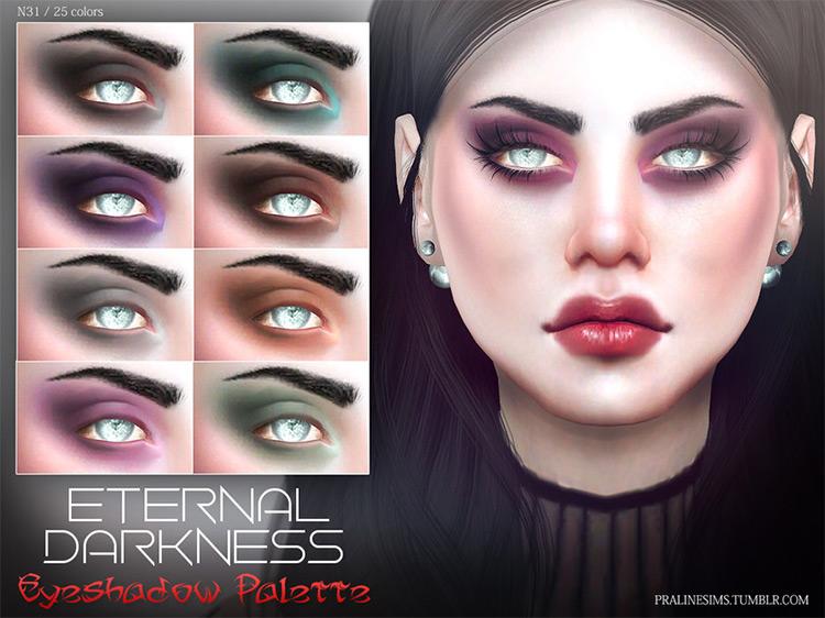 Eternal Darkness Eyeshadow Palette Sims 4 CC