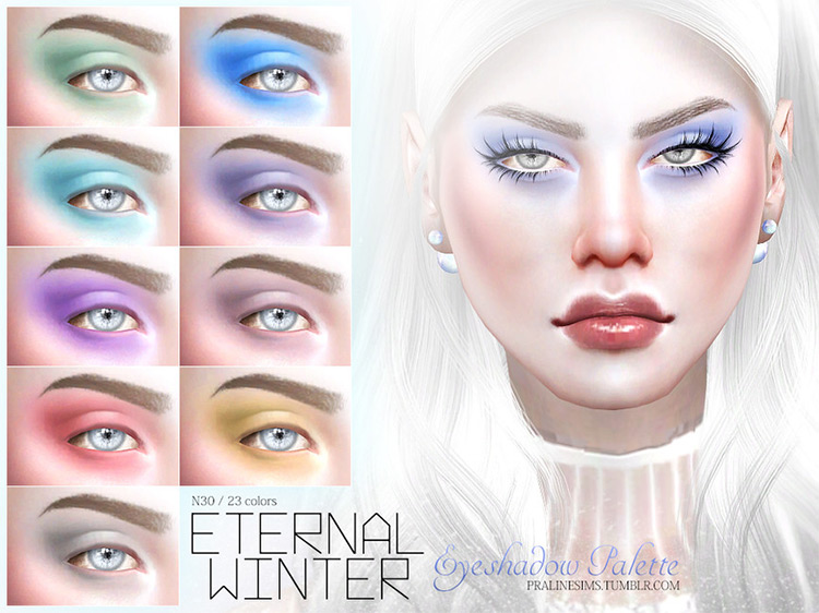 Eternal Winter Eyeshadow Palette Sims 4 CC