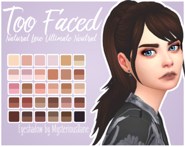 Too Faced Natural Love Ultimate Neutral Eyeshadow Palette TS4 CC