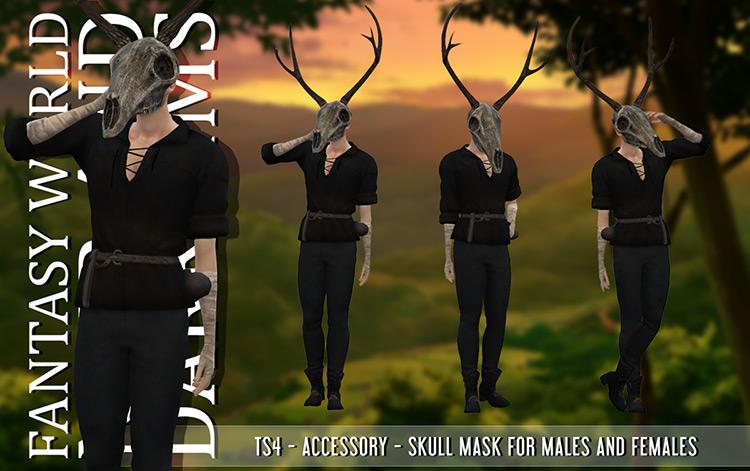 Skull Mask Sims 4 CC
