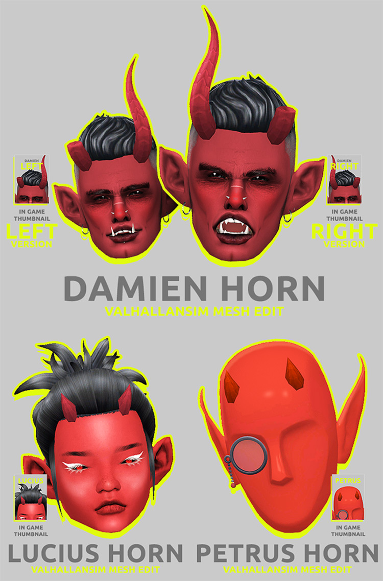 Horns Pack Sims 4 CC