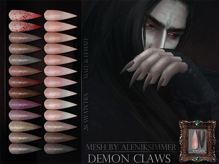 Demon Claws Sims 4 CC screenshot