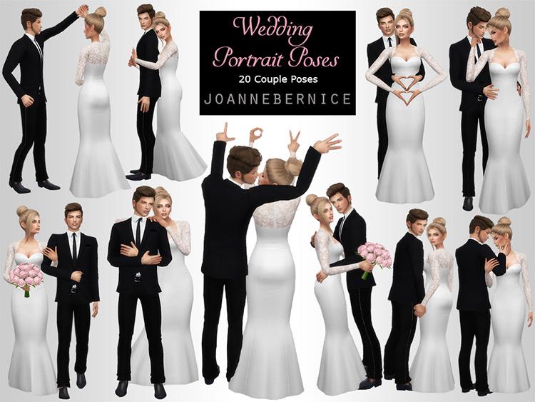 Wedding Portrait Poses Sims 4 CC
