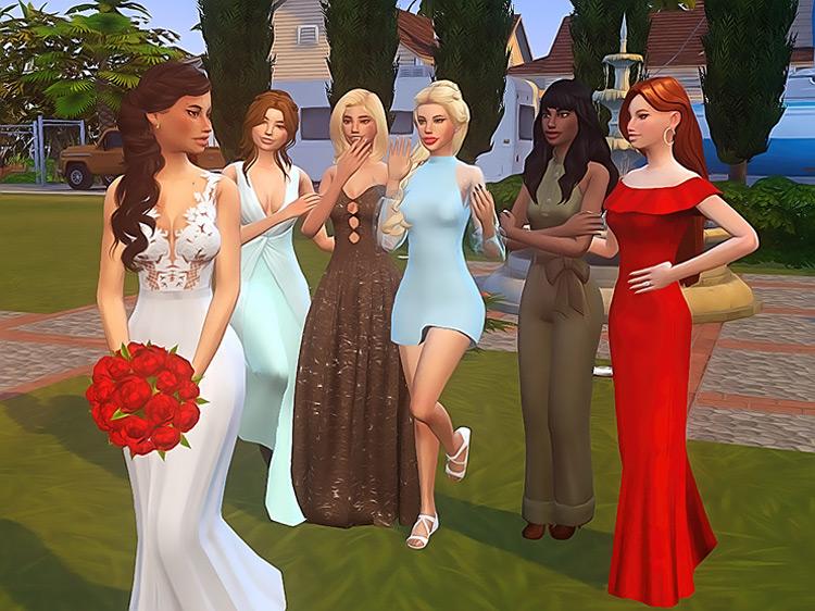 Flower Toss Pose Pack for Sims 4