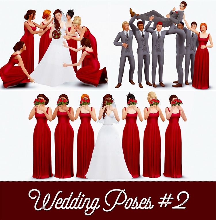 Wedding Poses #2 Sims 4 CC