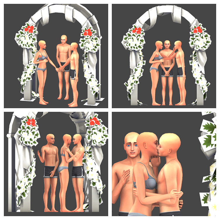 Wedding Pose Pack III for Sims 4