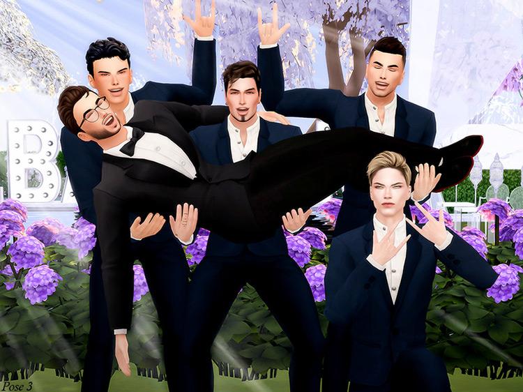 Groomsman Pose Pack Sims 4 CC screenshot