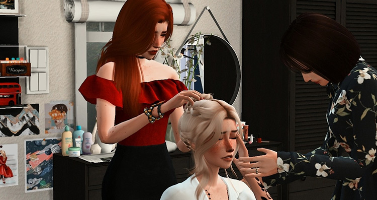 Wedding Preparation Pose Pack Sims 4 CC