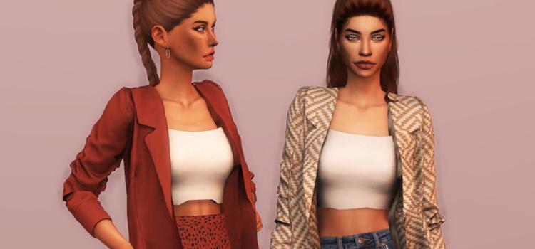 Cute girls jackets CC - The Sims 4