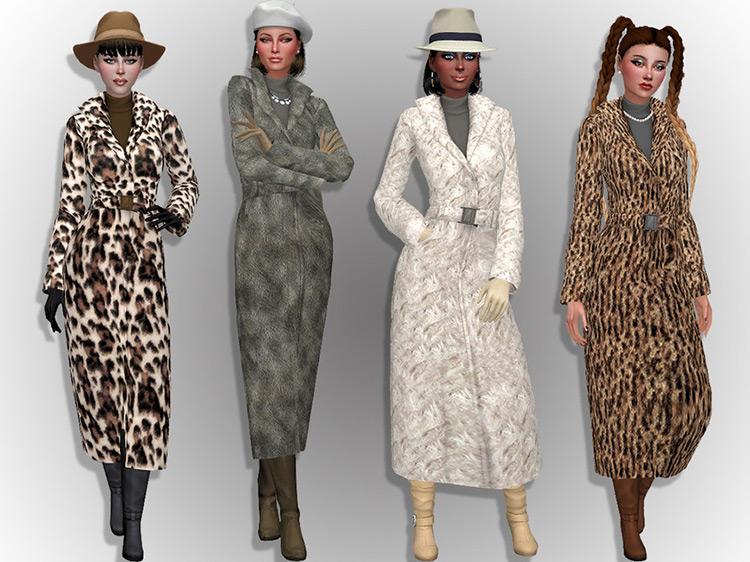 Faux Fur Coat Sims 4 CC