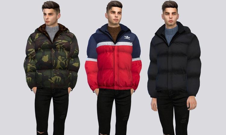 Urban Puffer Jackets Sims 4 CC