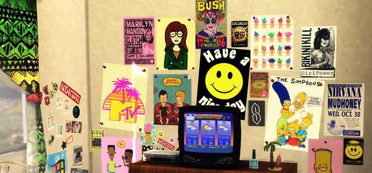 Wall Posters from the 1990s - Sims 4 CC