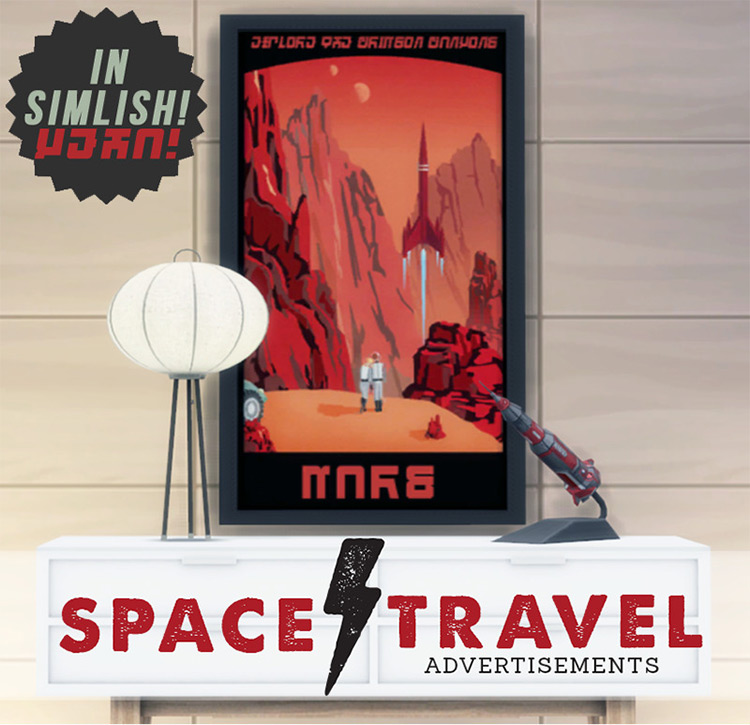 Space Travel Advertisements TS4 CC
