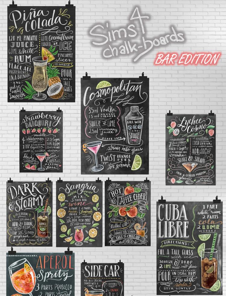 Chalkboards – Bar Edition TS4 CC