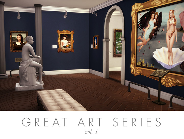 Great Art Series, Vol. 1 Sims 4 CC