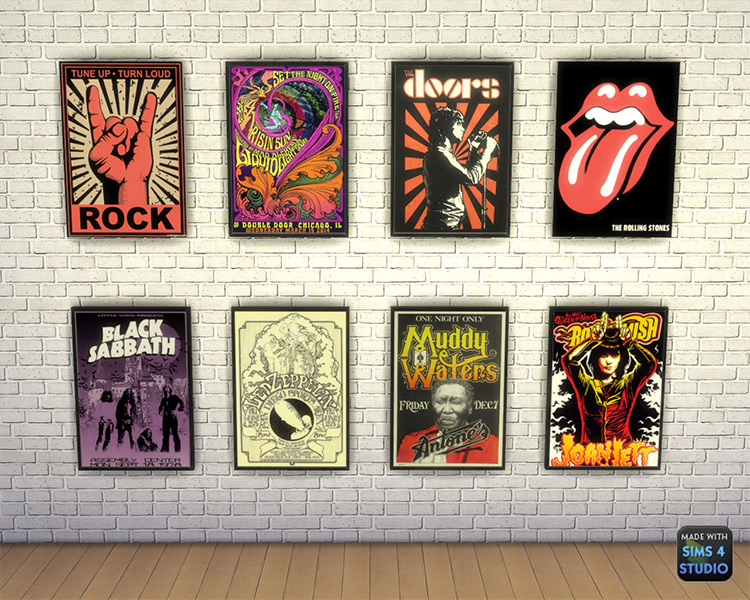 Rock Posters Sims 4 CC
