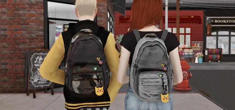 Last of Us Ellie Backpacks - Sims 4 Mod