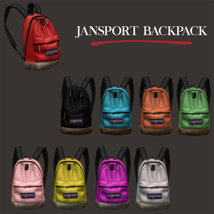 Jansport Backpack Sims 4 CC