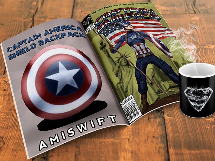 Captain America Shield Backpack TS4 CC
