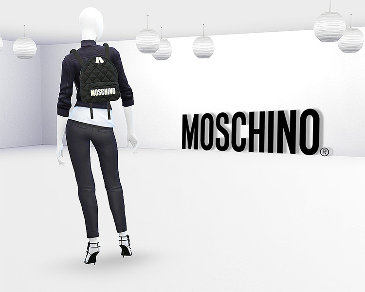 Moschino Quilted Fabric Backpack Sims 4 CC