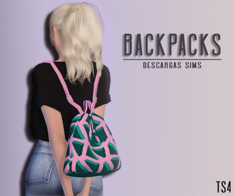 Backpacks Pack Sims 4 CC