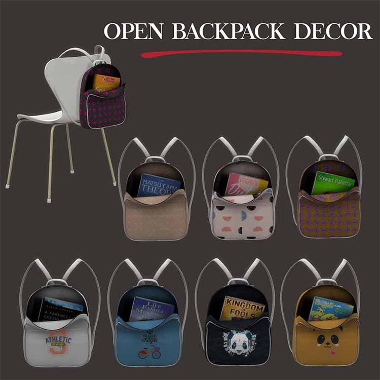 Open Backpack Sims 4 CC screenshot