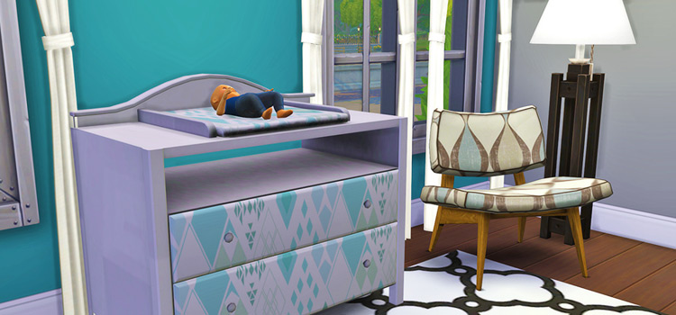 Nap Time Nursery Changing Table - Sims 4 CC