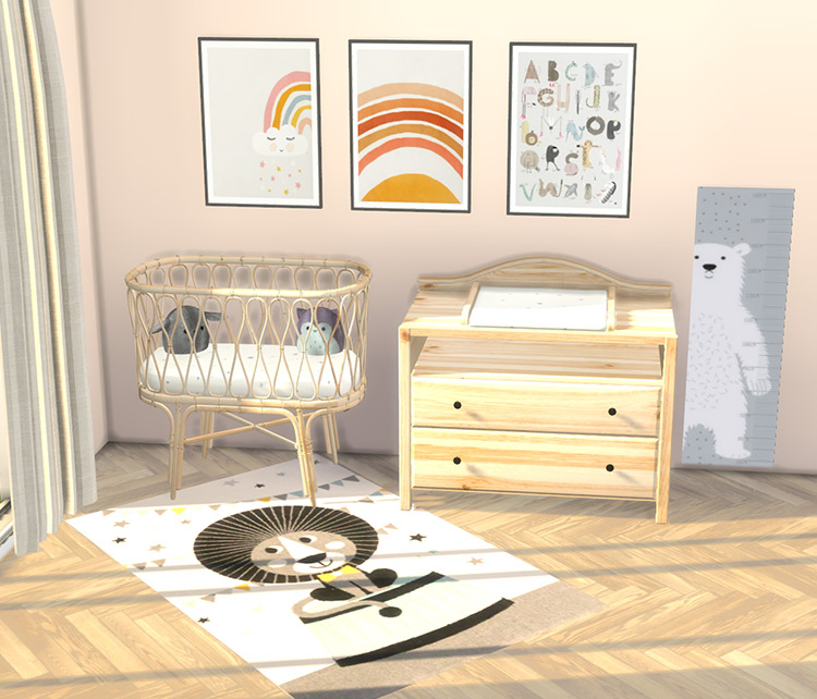 Boho Nursery Changing Table TS4 CC
