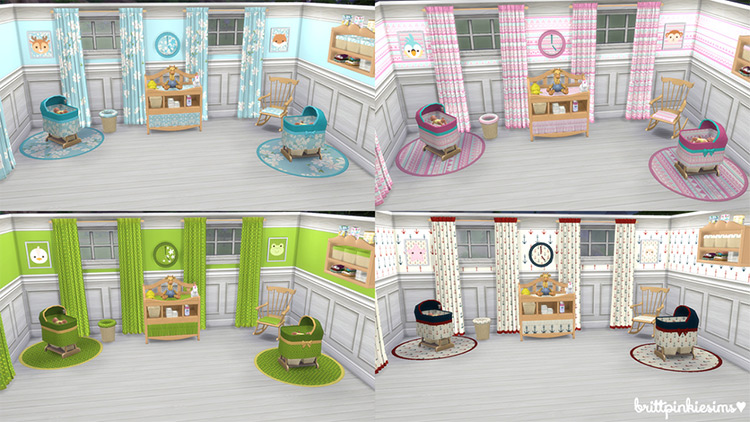 Brittpinkiesims' Nursery Set Changing Table Sims 4 CC