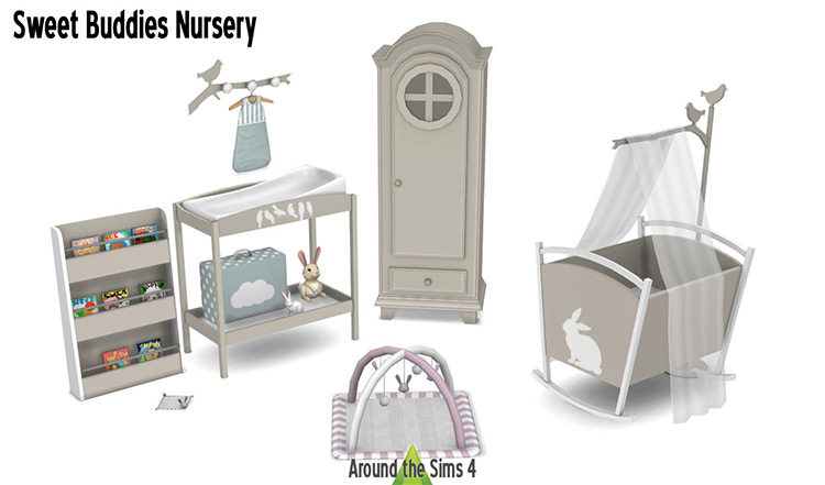 Sweet Buddies Nursery Changing Table Sims 4 CC