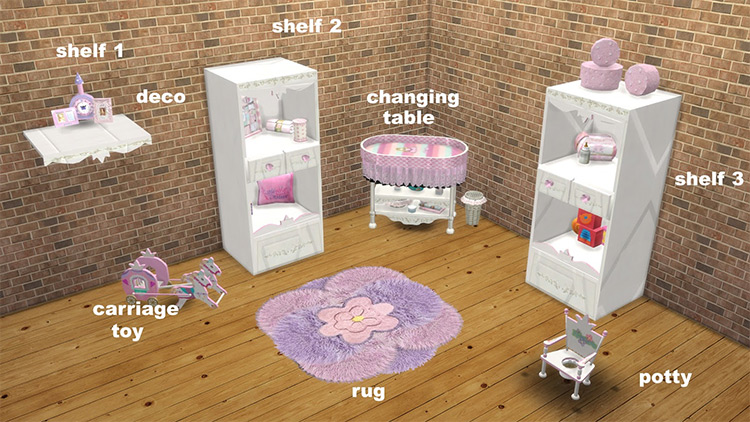Vita Sims Baby Changing Table Sims 4 CC screenshot