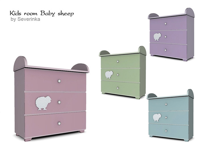 Baby Sheep Changing Table TS4 CC