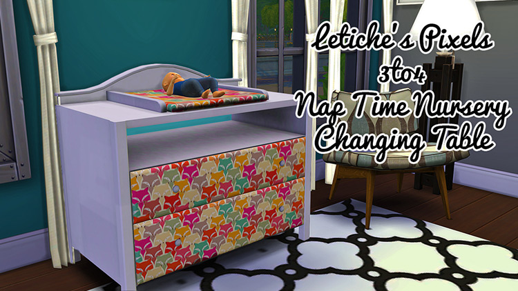 Nap Time Nursery Changing Table for Sims 4