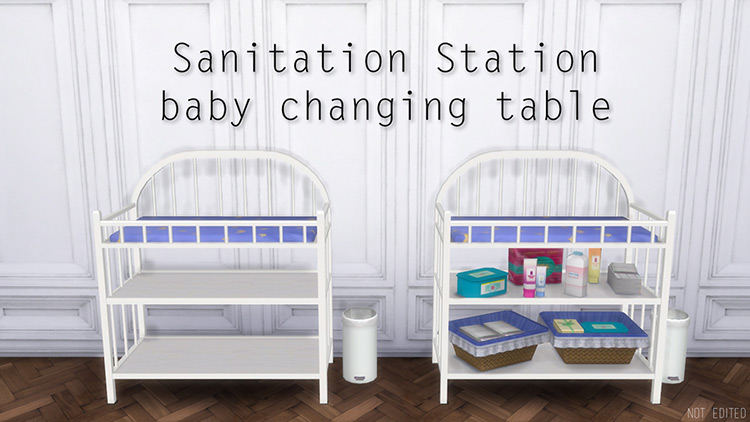 Sanitation Station Baby Changing Table Sims 4 CC