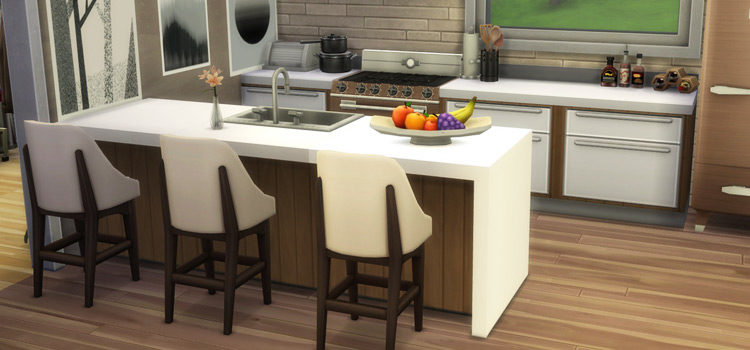 Sims 4 Counters CC & Mods (For Kitchen + Bathroom)
