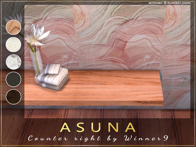 Asuna Bathroom Counter Sims 4 CC