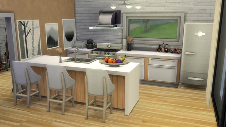 Seamless Island Counter Sims 4 CC