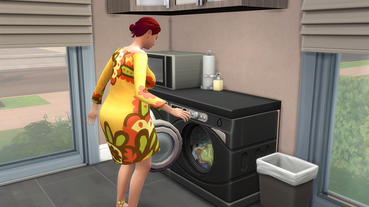 Under Counter Washing Machine and Dryer Sims 4 CC