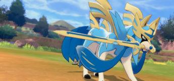 Shiny Zacian in Pokemon Sword