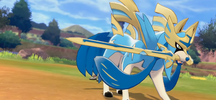 Shiny Zacian in Pokemon Sword