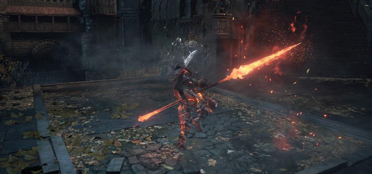 Battle screenshot in Dark Souls 3