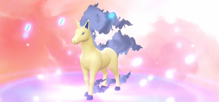 Shiny Rapidash in-game screenshot - Pokemon Lets Go